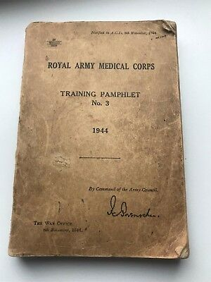 Vintage Ww2 Ramc Royal Army Medic Corps Training Pamphlet No 3 1944