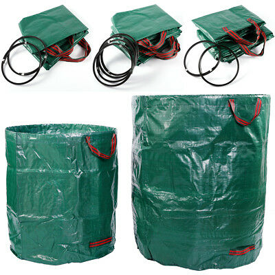 2-4x Yard Law Garden Rubbish Waste Leaf Bag Refuse W/ Stay Open Ring Heavy Duty