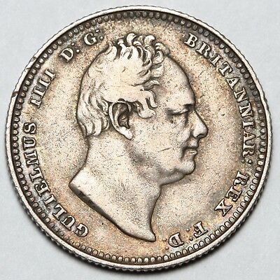 1834 King William Iiii Iv Great Britain Silver Shilling Coin