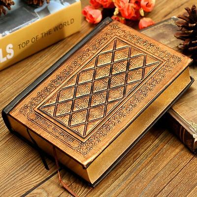 Retro Vintage Journal Blank Hard Cover Leather Diary Notebook Paper 416 Pages