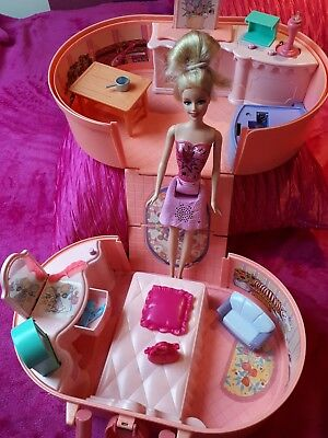 Barbie 1994 vintage pop up play house bedroomset carry case box toy please read