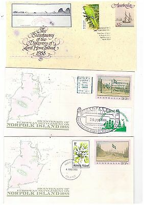 Norfolk Island Group of Covers   ( 6 Covers )