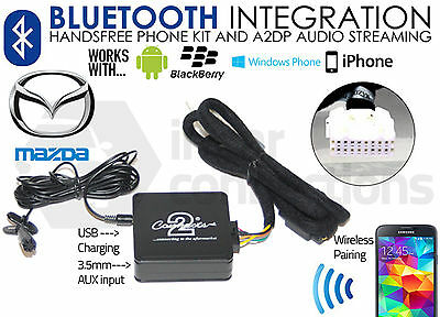 Mazda Bluetooth streaming handsfree calls adaptor CTAMZBT001 AUX iPhone Samsung