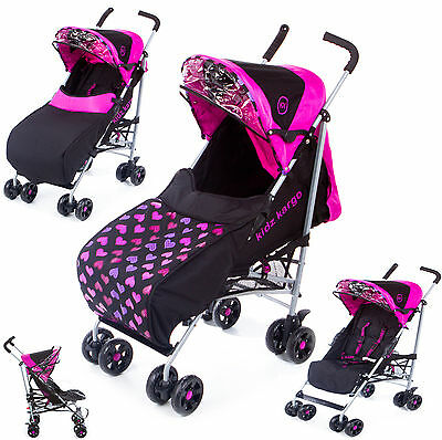 Kids Kargo Baby Buggy Pram Stroller Newborn Raincover Footmuff Single Pushchair