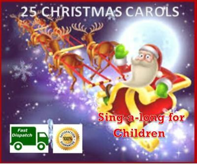 ⛪ Christmas Carols ⛄ CD 25 Sing-Along Songs For Children 🎅 xmas songs carols 🎄