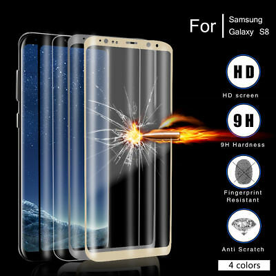 Real Tempered Glass Full Screen Flim Protector For Samsung Galaxy S8 S8 Plus
