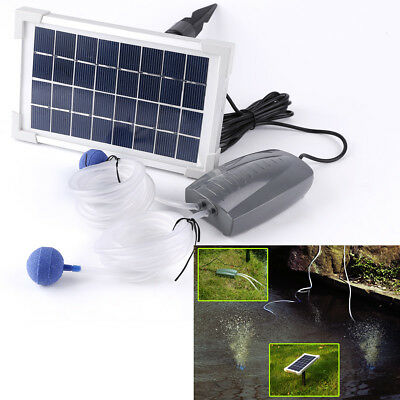 2.5W Solar Powered Panel Air Oxygenator Pond Pool Water Garden Air Pump AERATOR