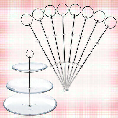 8x 3 Tier Round Top Cake Plate Stand Handle Fittings Fruit Food Server Display