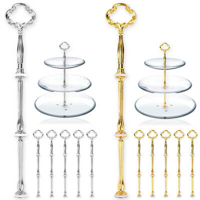 3 Tier MINI Cake Plate Rod Stand Handle Fittings Hardware Dessert Fruit Server