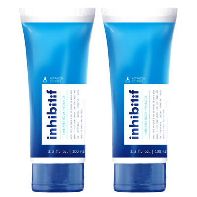 2 x New Inhibitif Hair-Free Body Hydrator 100ml Clean Ozone Aroma All Skin Types