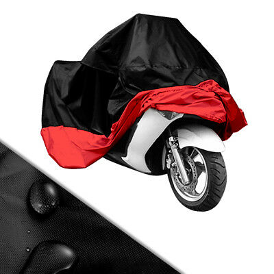 Red Blk XL XXL Waterproof Outdoor Motorcycle Motorbike Scooter Motor Bike Cover