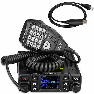 Retevis RT95 Dual Band VHF 144-146MHz UHF430~440MHz 200CH Mobile Car Radio+Cable