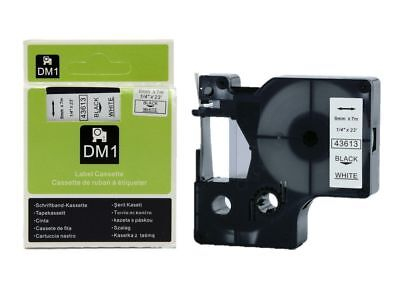 1x 2x 3x 5x Compatible Dymo D1 43613 6mm black on white Label tapes
