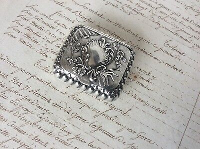 Gorgeous Antique French Solid Silver Hallmarked Snuff / Pill Box