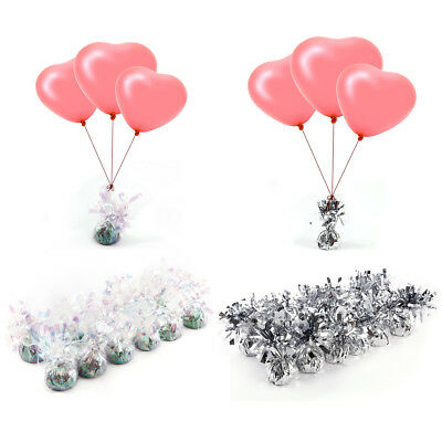 12 Wedding Helium Balloon Weights Cluster DIY Kit for Tables Balloons Ribbon