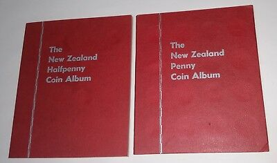NZ Coin sets Full Halfpenny & Penny set in albums with extras New Zealand coins