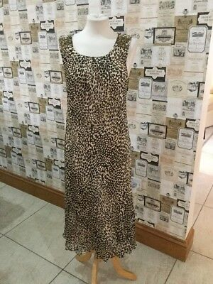 Cc Petite Size 14 Mother Of The Bride Outfit Gold Animal Print Excellent Cond.
