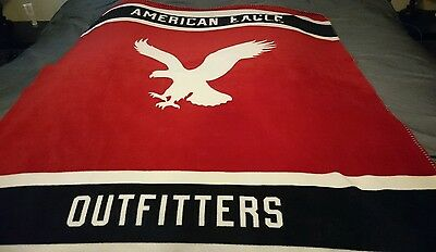 American Eagle Red White And Blue Throw Blanket