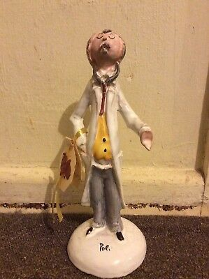 Original Poli Ceramic Pottery Doctor Figurine Made In Italy