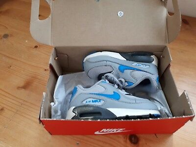 Nike Air Max Trainers Size 4.5 UK infants Boys/ Girls Grey and Blue.