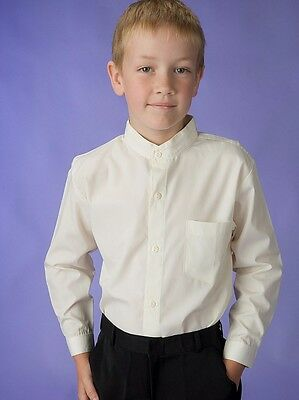 BOYS WHITE SHIRT, Size choices 000 to 16 YRS, LONG SLEEVES, NEW, AUSTRALIA