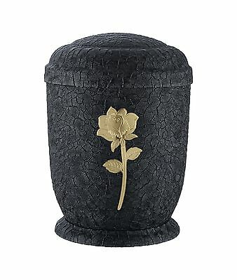 Black Metal Cremation Ashes Urn / Casket for Adults (M-930F-Bk)