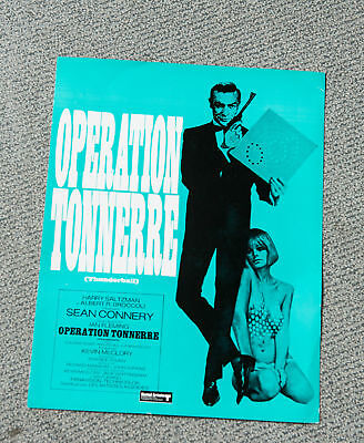 SYNOPSIS : OPÉRATION TONNERRE de TERENCE YOUNG / SEAN CONNERY - JAMES BOND