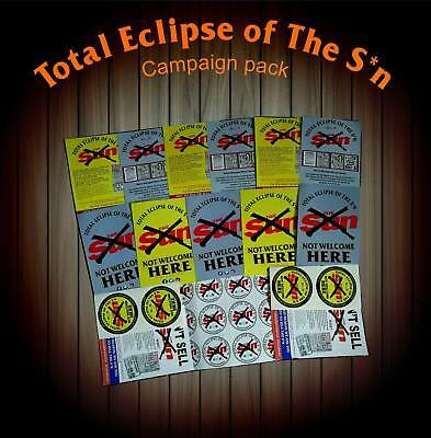Total Eclipse Of The S*n, Campaign Pack. waterproof/Car Stickers & Posters
