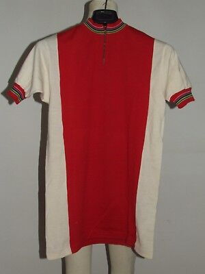 Maglia Bici Shirt Maillot Ciclismo Eroica Vintage 70's 80% Lana