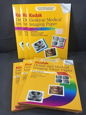 Kodak Dental & Medical Imaging Inkjet Paper Lot New Sealed *Read Description*