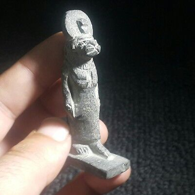 Rare Ancient Egyptian  Stone Amulet Of Sekhmet (1000–600) Bc