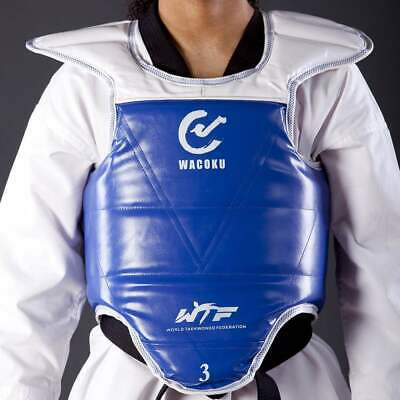 NEW WACOKU Chest Guard - WTF Approved Taekwondo Chest Protector Plate REVERSIBLE