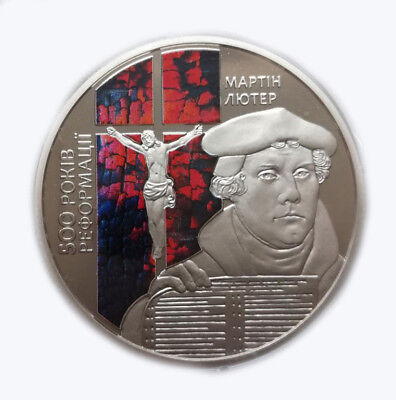 Ukraine 2017 5 UAH Coin UNC 500th Anniversary of the Reformation Copper-nickel