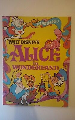 Disney's Alice in Wonderland Poster Style Canvas - Basingstoke collection only.