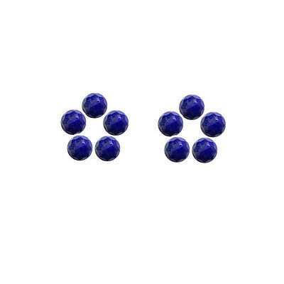 6x6mm 10pc AAA Quality Rose Cut Faceted Cabochon Lapis Lazuli Loose Gems