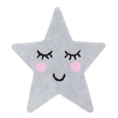Rug Sweet Dreams Grey Star - Kids Childrens Nursery Home Decor Sass & Belle