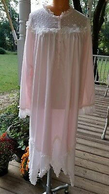 Vintage Cotton  Luxury Nightgown Rare  CINZIA Size M/L FLAW