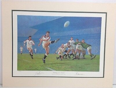 """Rugby """"Kicking For Touch"""" By Craig Campbell 374/500 Signed by Artist Print"""