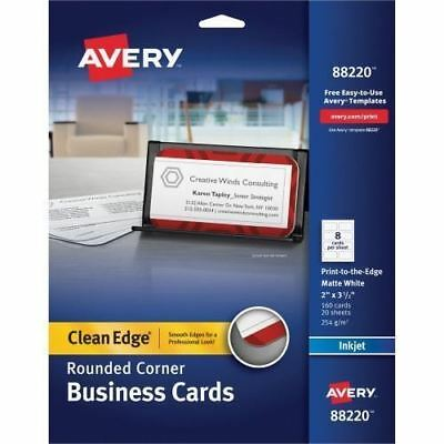 Avery Clean Edge 88220 Business Card 88220