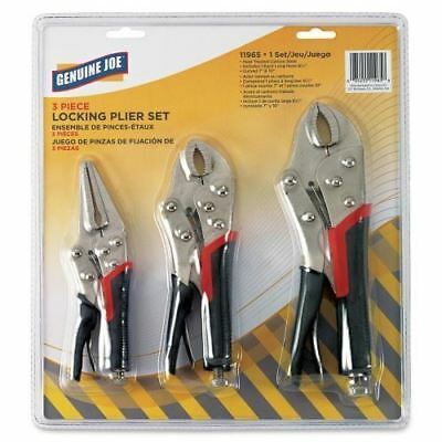 Genuine Joe 3pc Locking Plier Set 11965