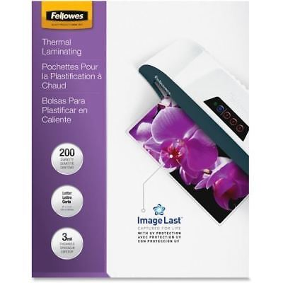 Fellowes Laminating Pouches - Letter, ImageLast, 3mil, 200 pack 5244101