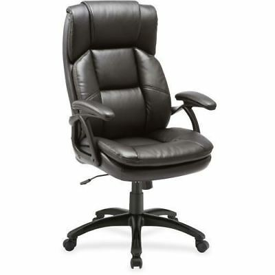 Lorell Black Base High-back Leather Chair 59535