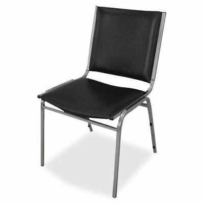 Lorell Padded Armless Stacking Chair 62502