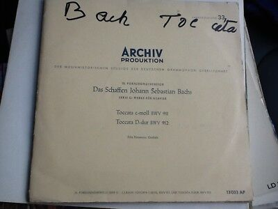 ARCHIV 13033 AP 10 INCH cembalo  Bach toccata number 3and4 with inserts original