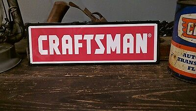 Craftsman advertising metal sign vintage mechanics garage 4x12 inches 50016
