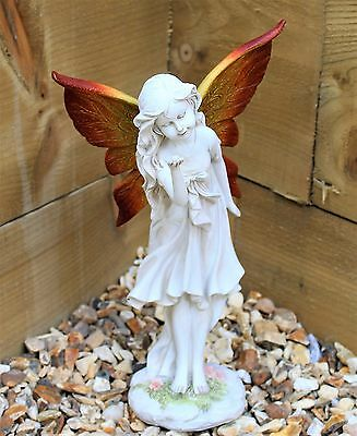 Large Magical Fairy Garden Ornament Stone effect Figurine Angel Statue Gift 30cm