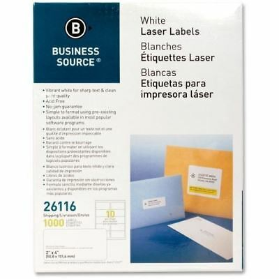 Business Source Mailing Laser Label 26116