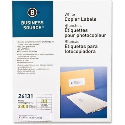 Business Source White Copier Mailing Label 26131