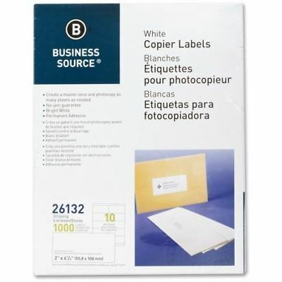 Business Source White Copier Mailing Label 26132