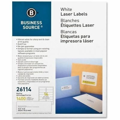 Business Source Mailing Laser Label 26114